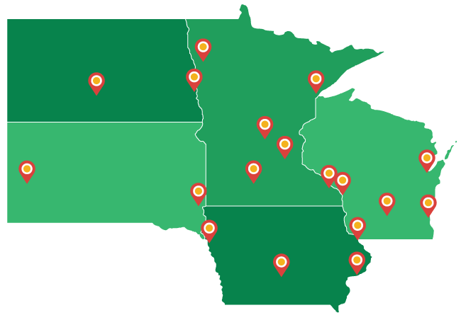 Giving to Catholic dioceses in the Upper Midwest